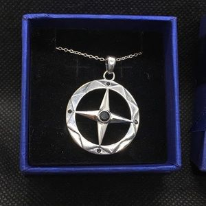 Jewelry - S925 Sterling Silver Large Compass Pendant